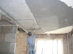Штукатурные работы. Устройство котлованов, фундаментов, бетонных подушек, монтаж стен, перегородок,