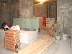 Возведение несущих стен. Устройство котлованов, фундаментов, бетонных подушек,